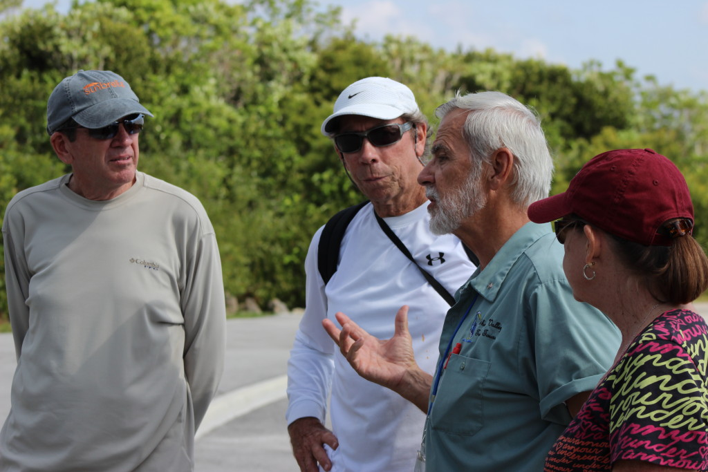 Naturalist guide educating visitors on one of our Everglades Tram Tours