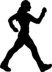 silhouette of girl walking
